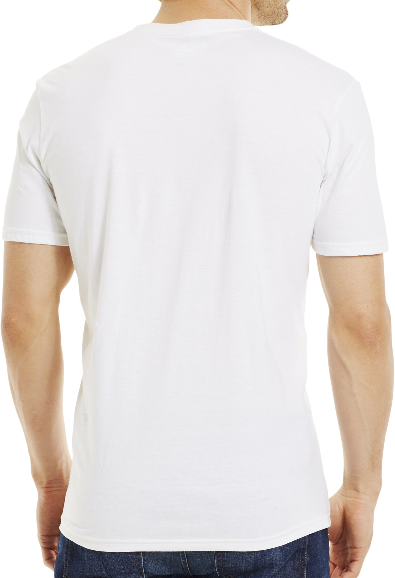 Men's UA Stamp T-Shirt, White, Back