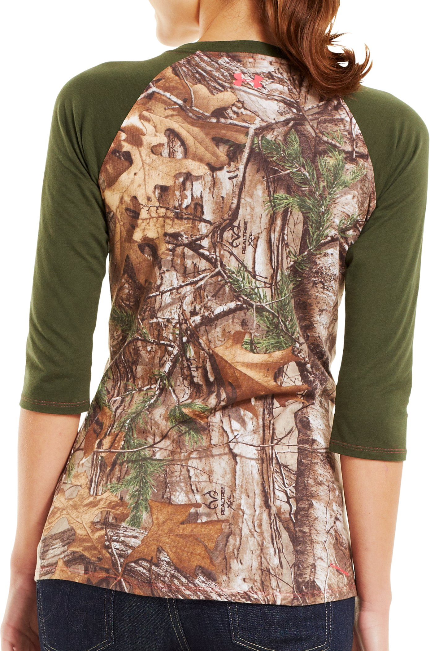 Women's Charged Cotton® Camo ¾ T-Shirt, REALTREE AP-XTRA, Back