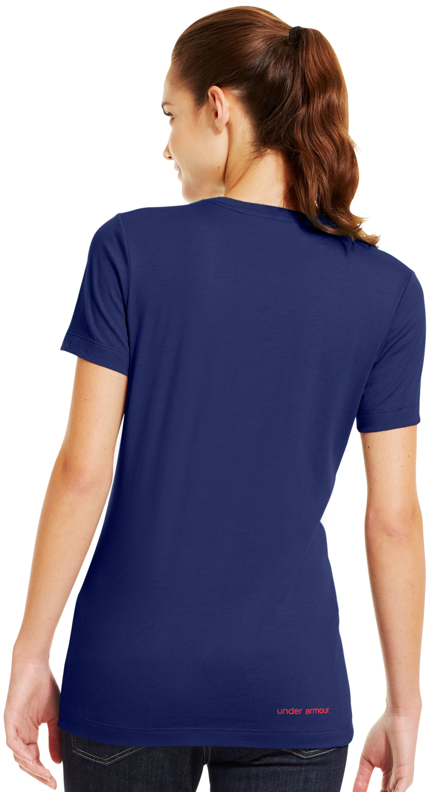 Women's UA Antler Logo T-Shirt, REGAL, Back