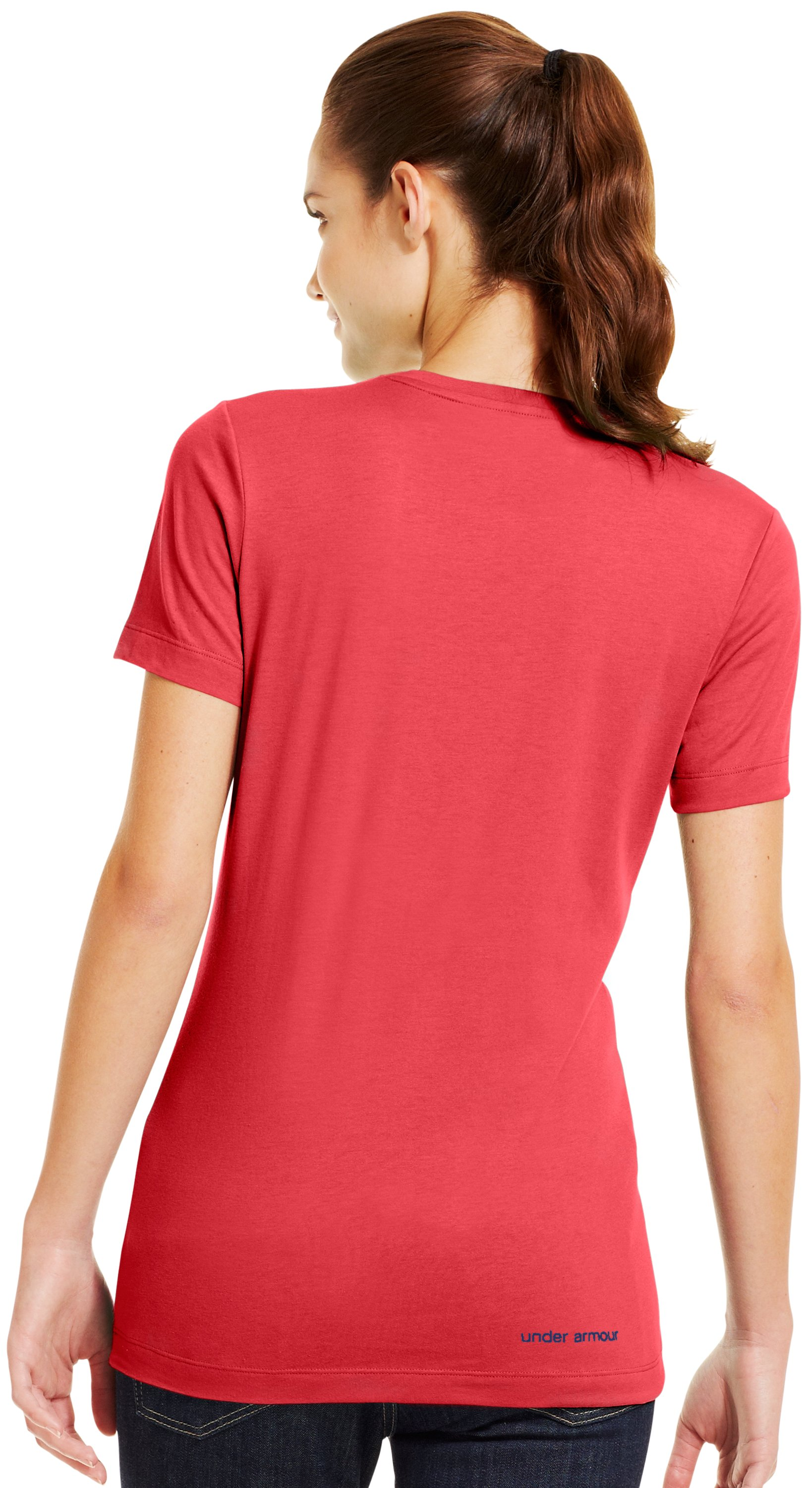Women's UA Antler Logo T-Shirt, Power, Back