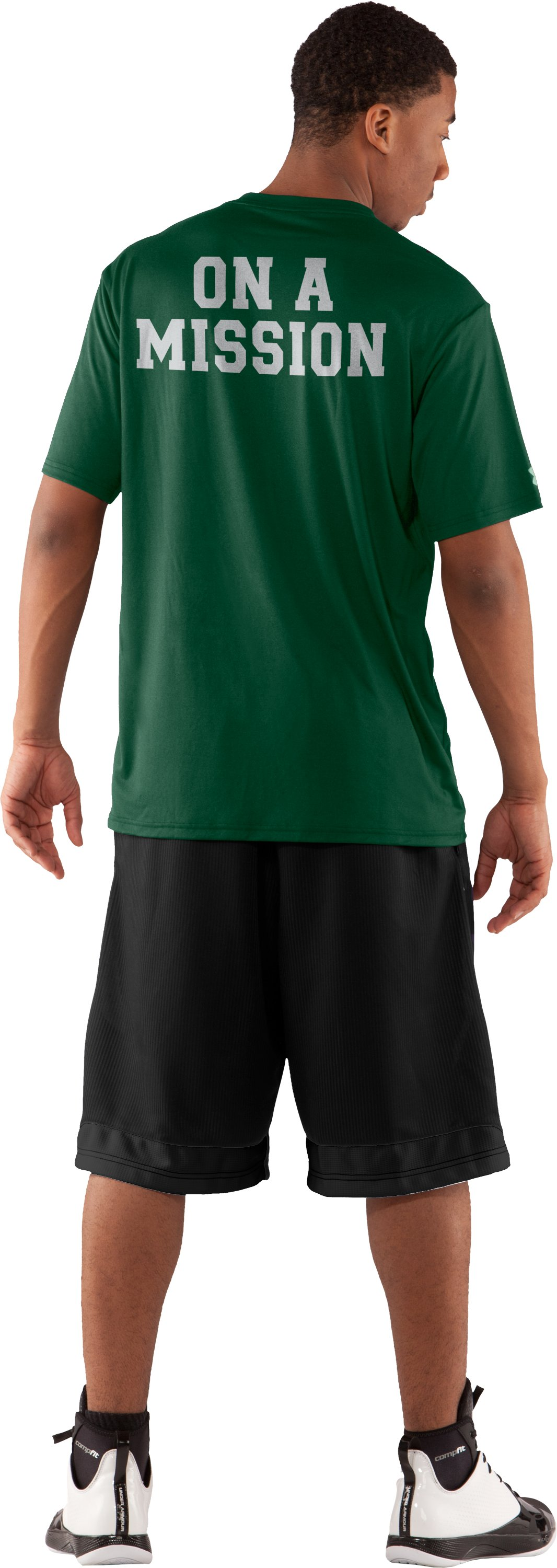 Men's MSU UA T-Shirt, Forest Green, Back