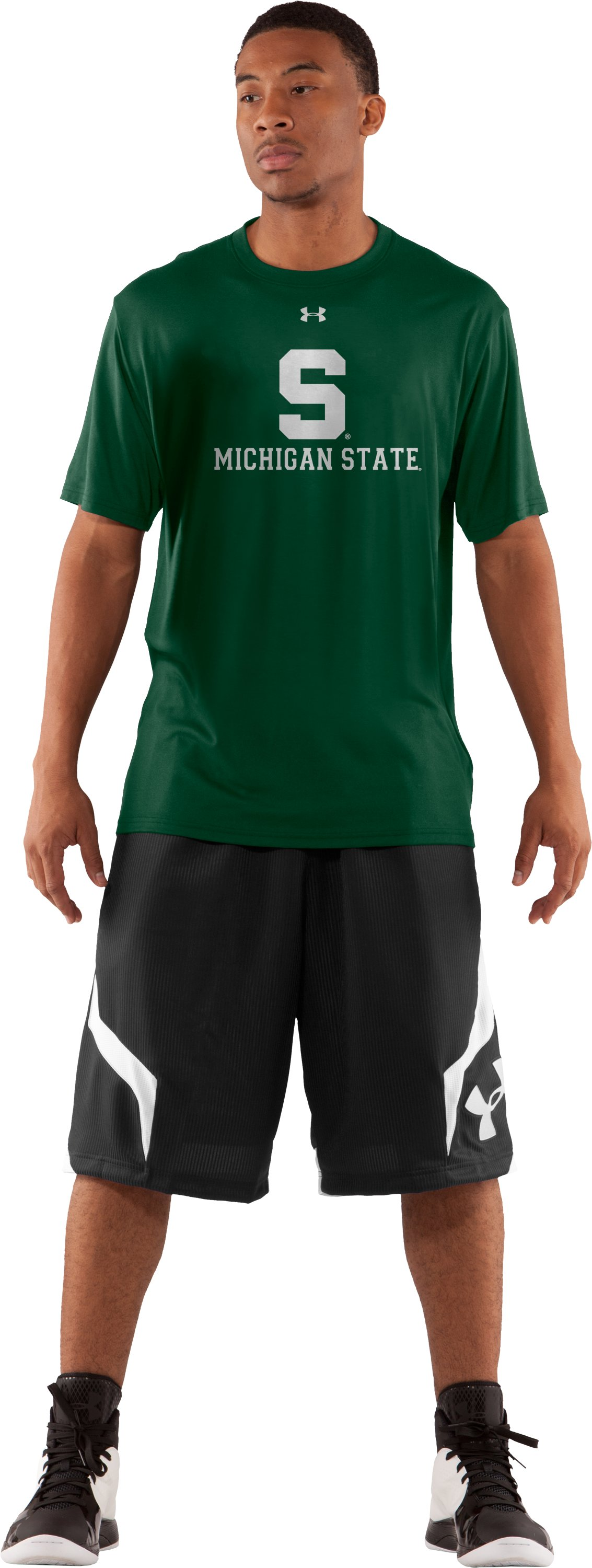 Men's MSU UA T-Shirt, Forest Green, zoomed image