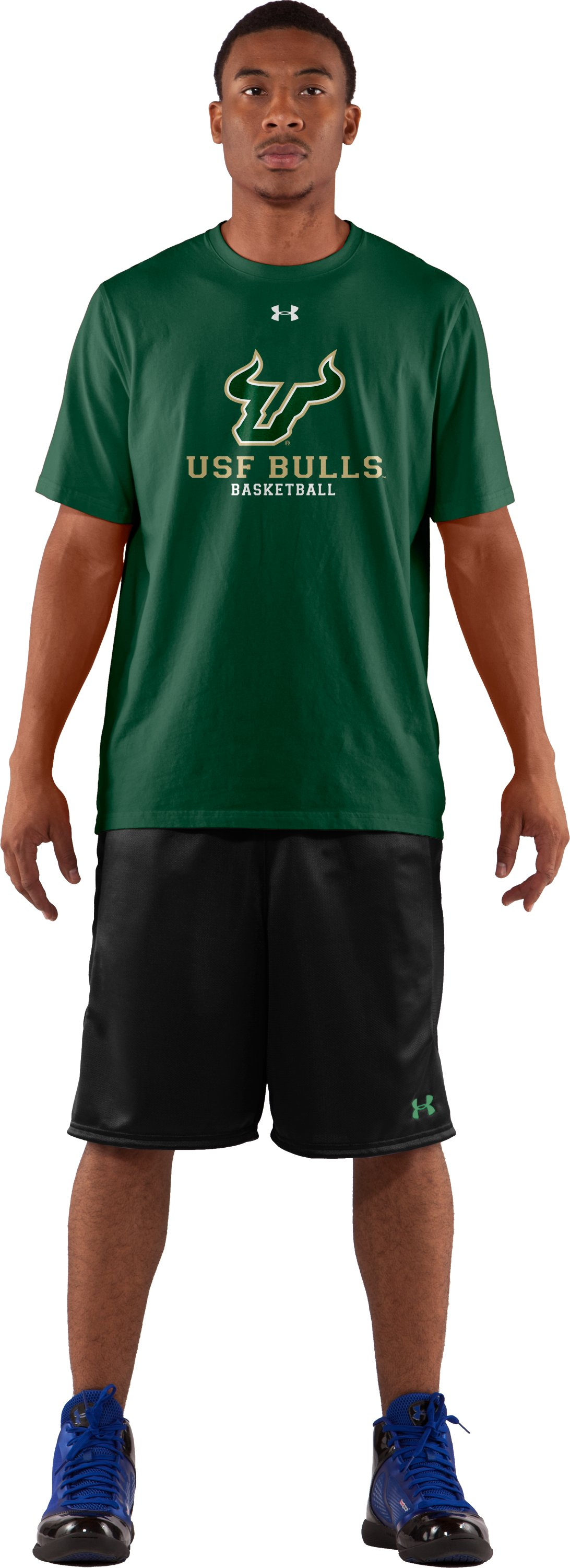 Men's USF UA T-Shirt, Forest Green, Front