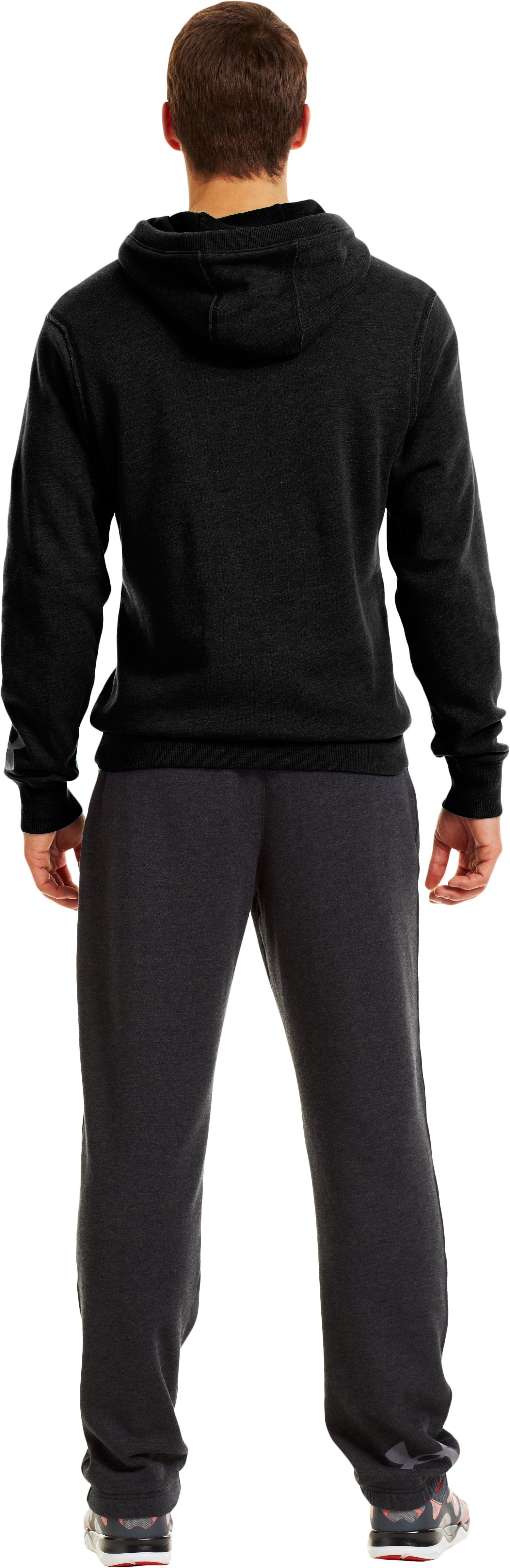 Men's Charged Cotton® Legacy Fleece Hoodie, Black , Back