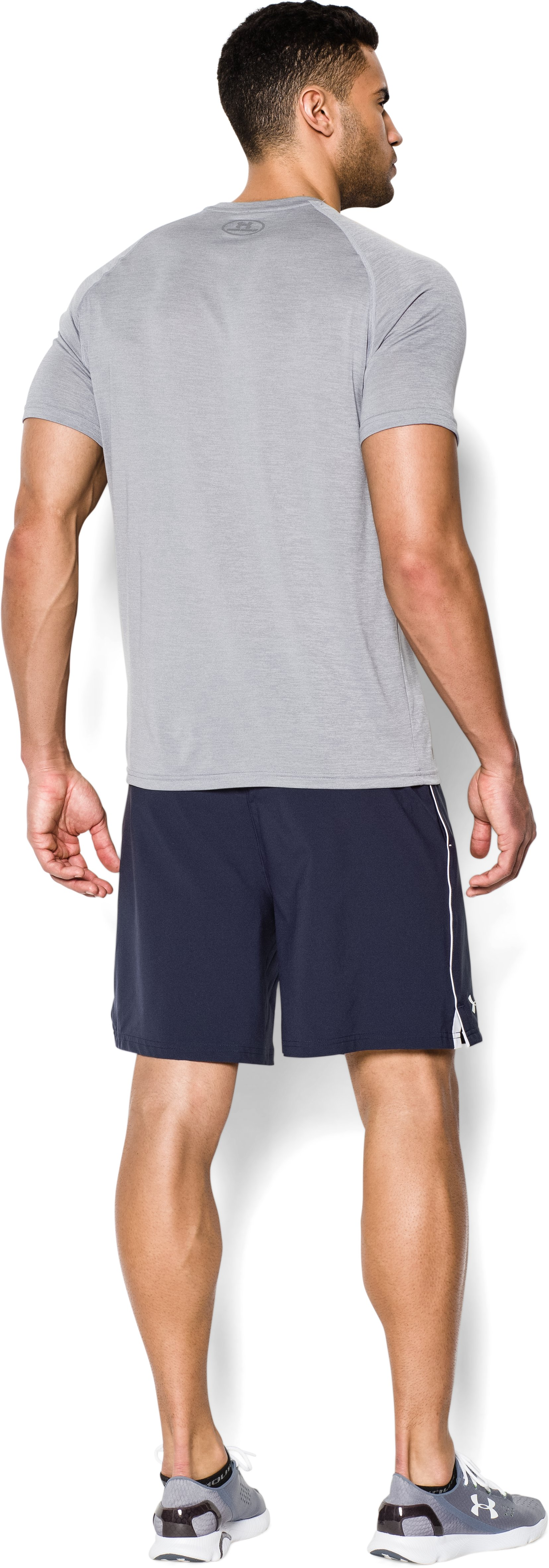 Men's UA Mirage Shorts, Midnight Navy, Back
