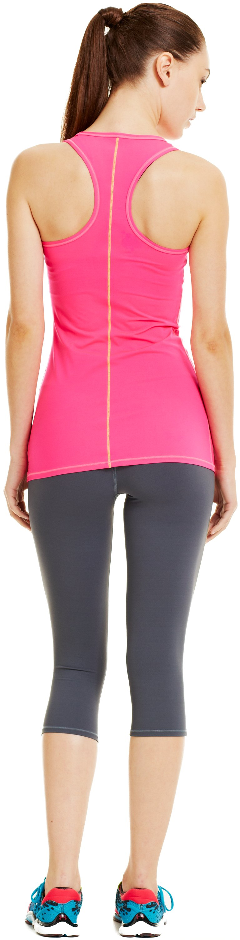 Women's UA Pure Stretch HeatGear® Tank, PINKADELIC, Back