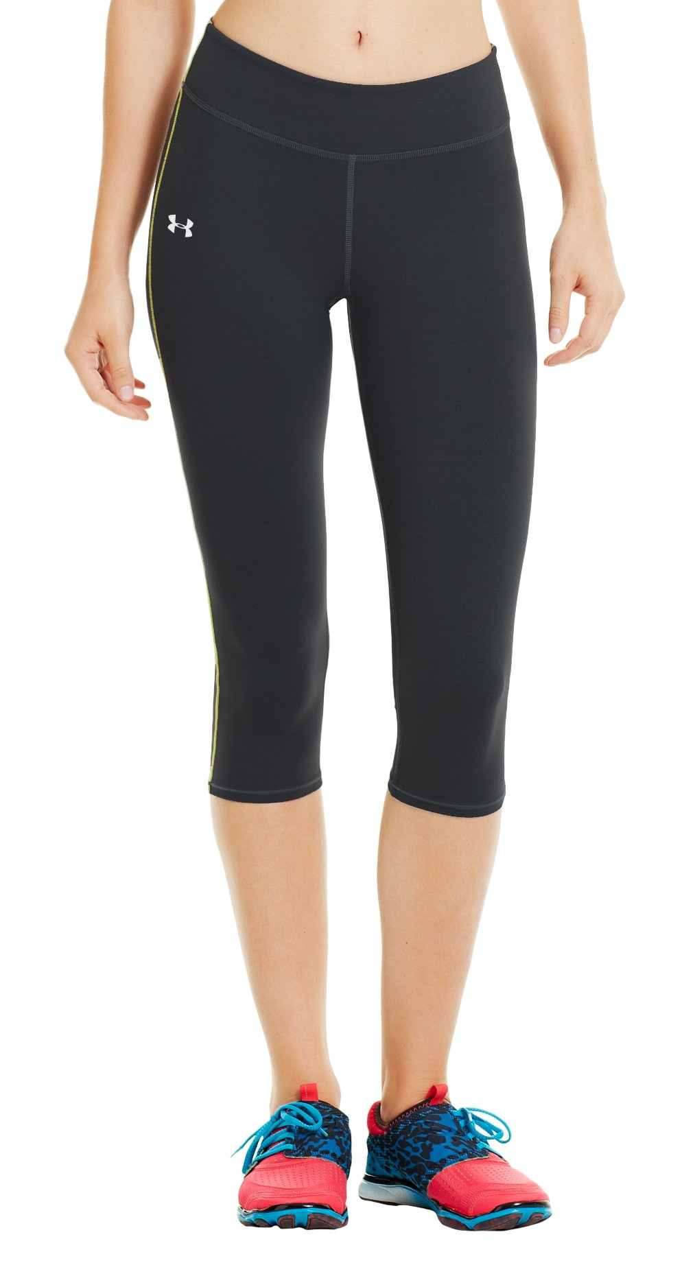 Women's UA Pure Stretch HeatGear® Capri, Black