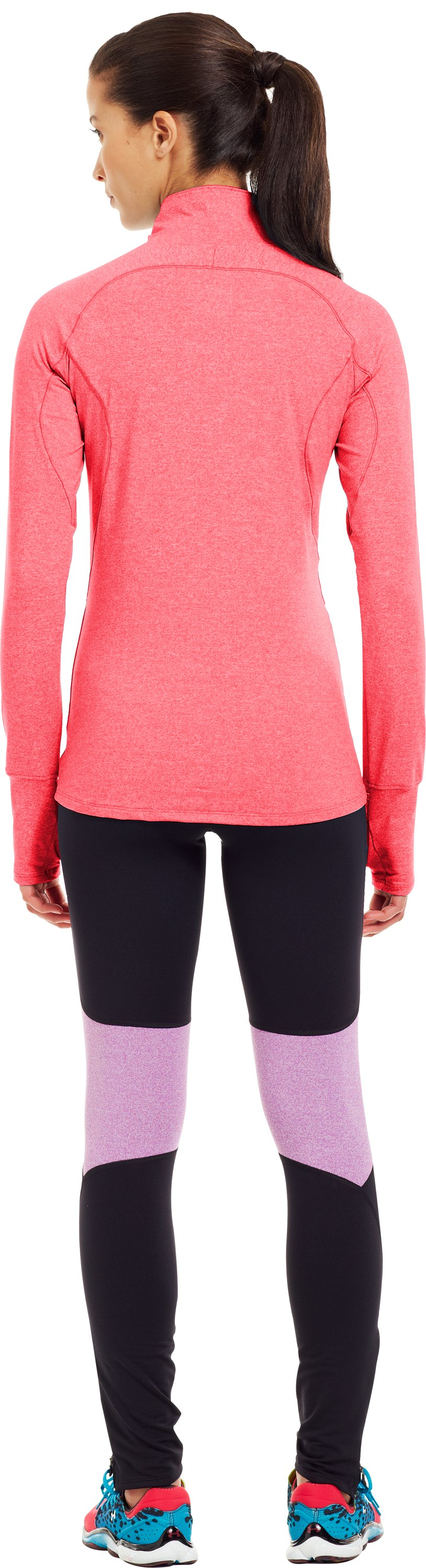 Women's UA Storm Melange ¼ Zip, Neo Pulse, Back
