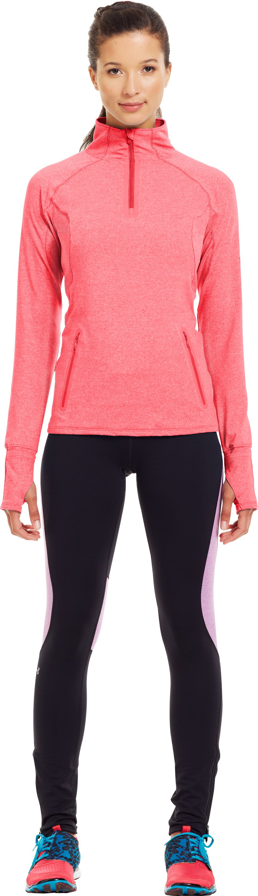 Women's UA Storm Melange ¼ Zip, Neo Pulse