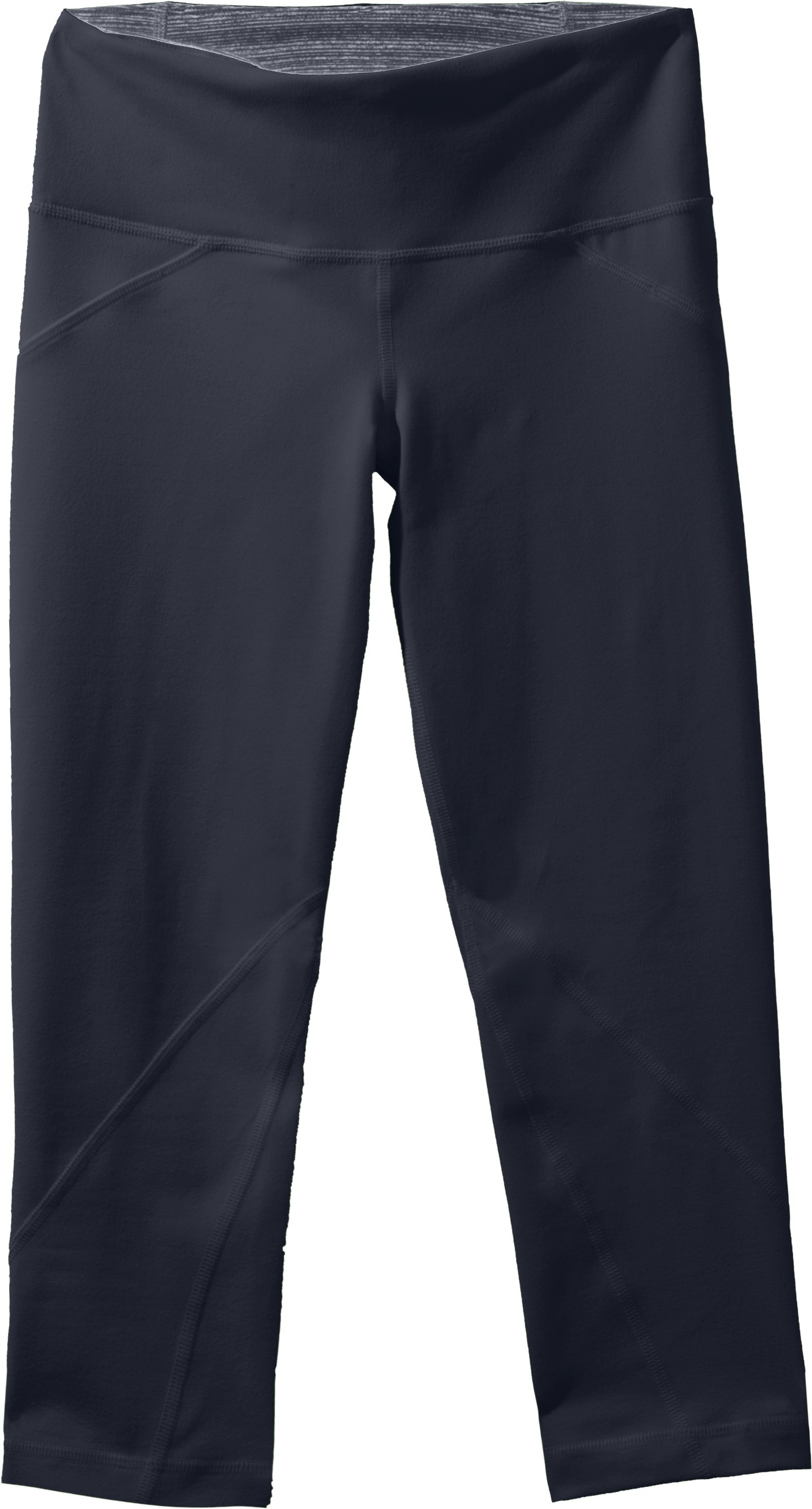 Women's UA Studio Rave Capri, ANTHRACITE, Laydown