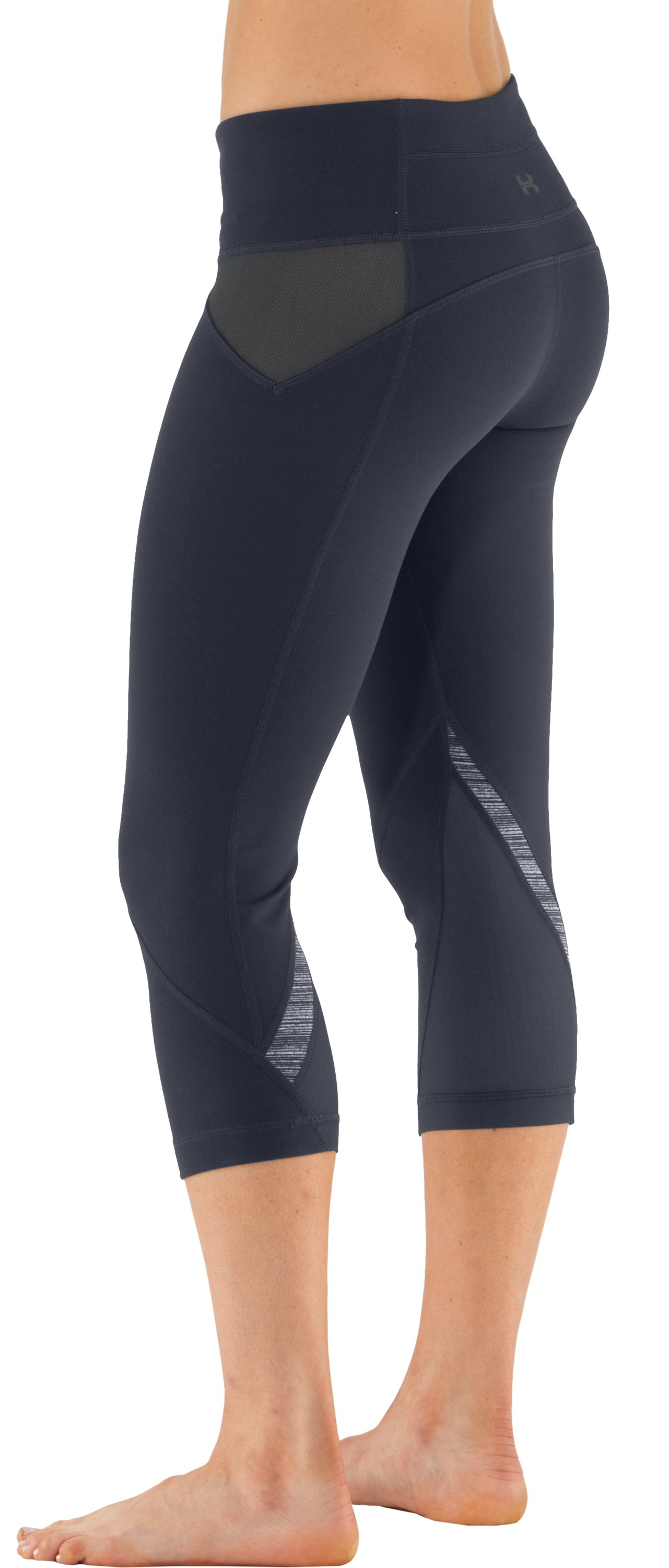 Women's UA Studio Rave Capri, ANTHRACITE, zoomed image