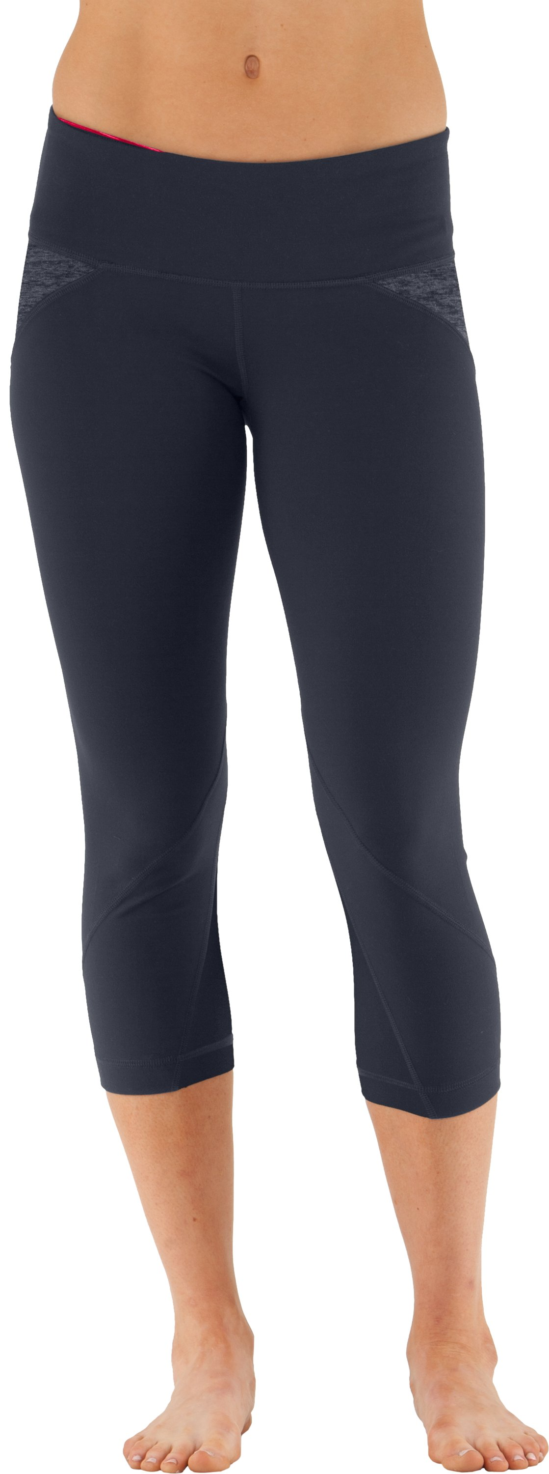 Women's UA Studio Rave Capri, ANTHRACITE,