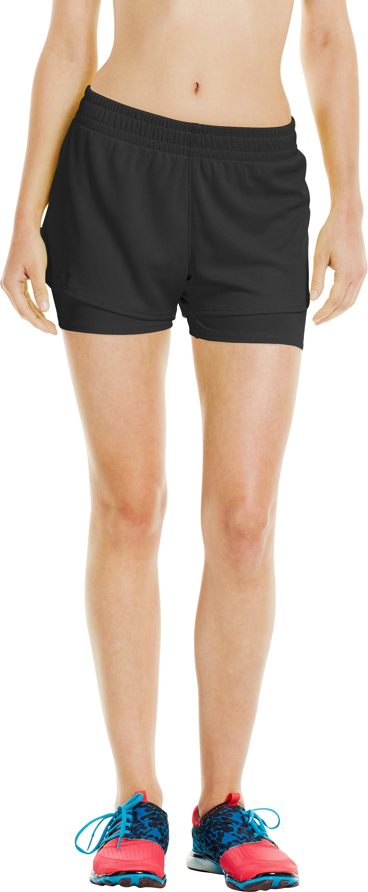 Women's UA Contend 2-In-1 Short, Black , undefined