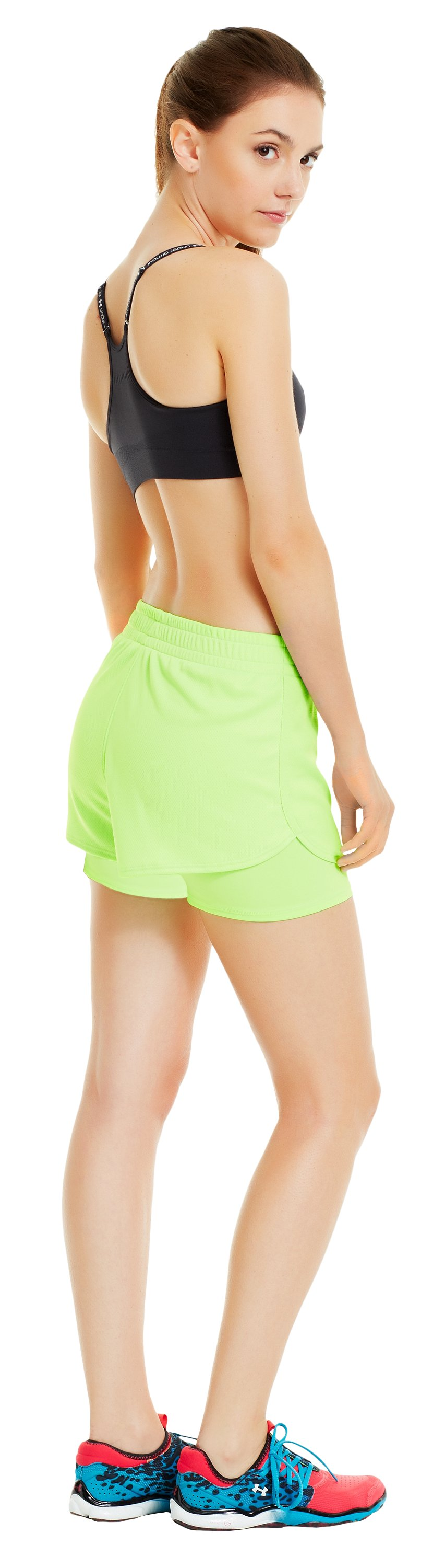 Women's UA Contend 2-In-1 Short, HYPER GREEN