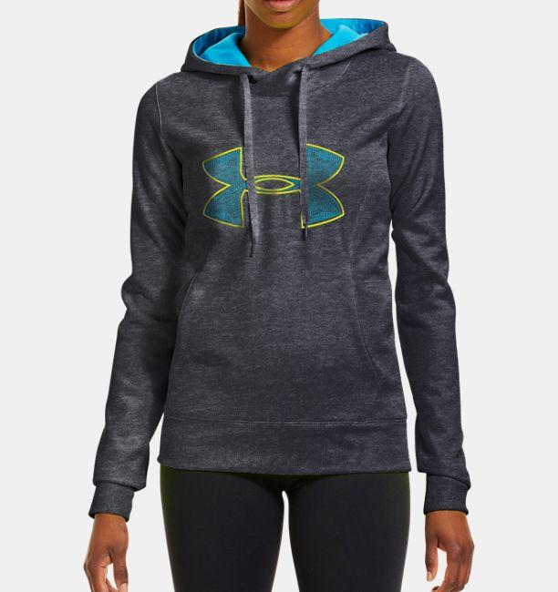 Women s Armour® Fleece Storm Embroidery Big Logo Hoodie  4cdad95b49
