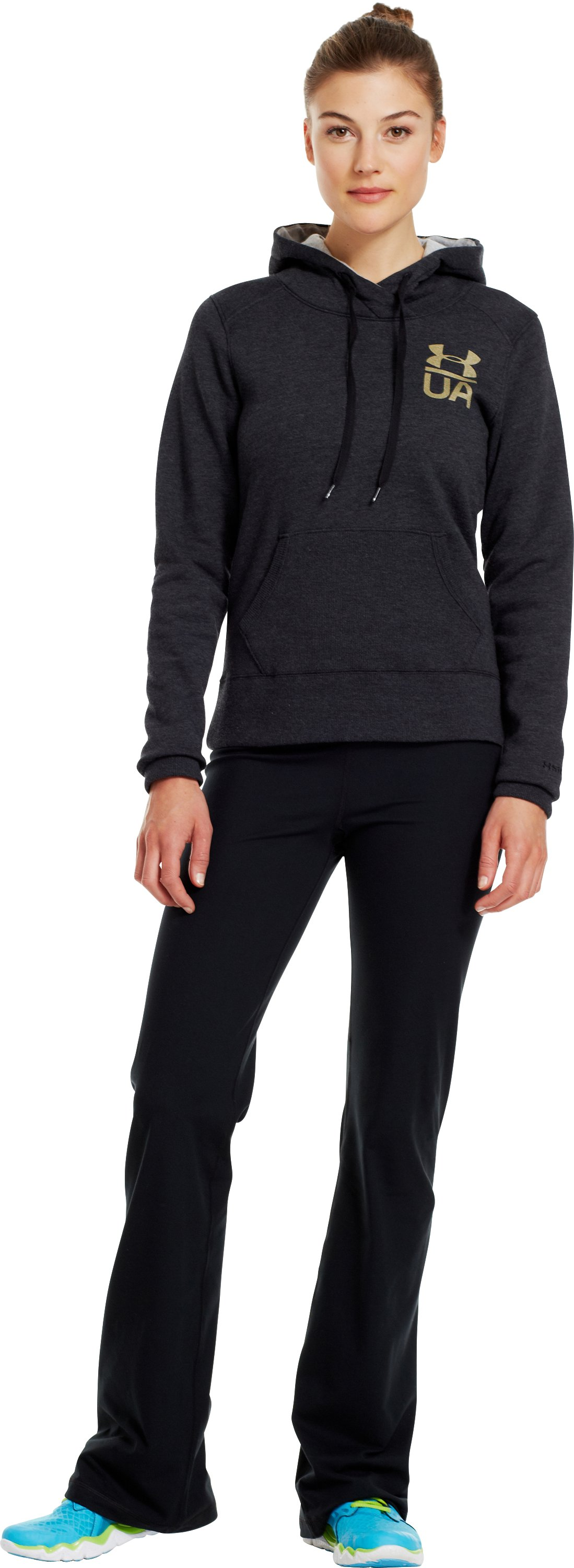 Women's Charged Cotton® Legacy Hoodie, Black , Front