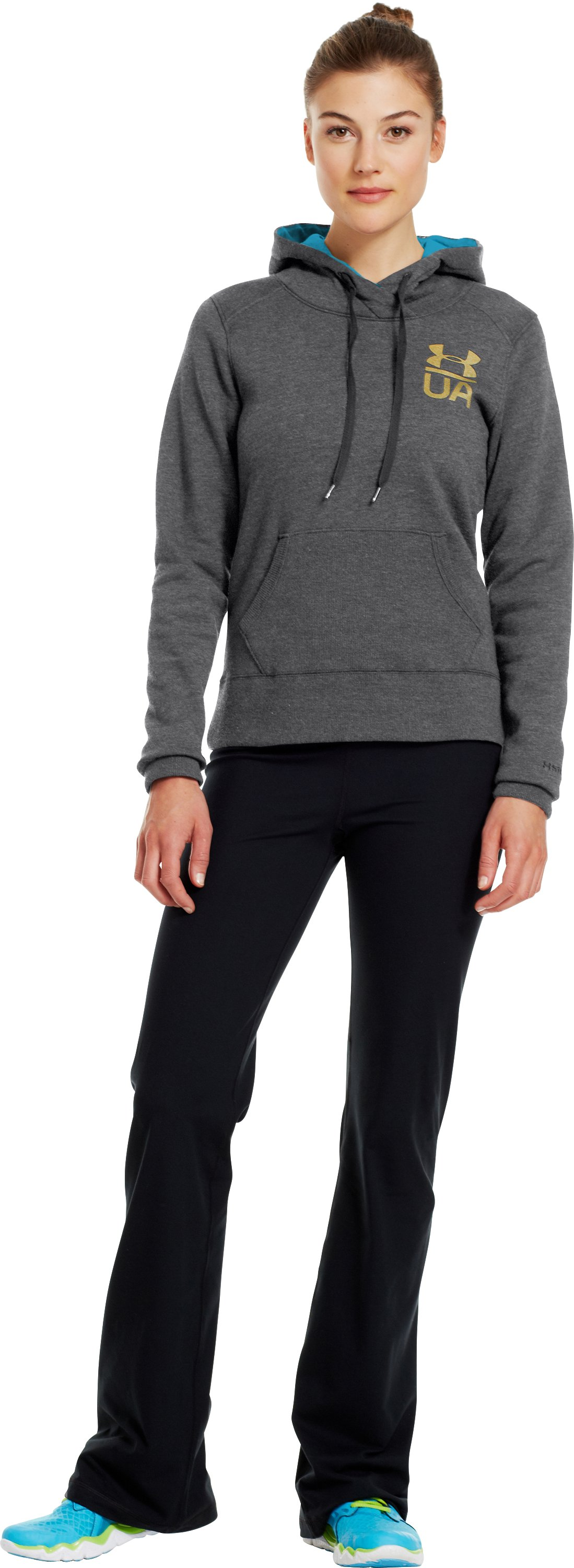 Women's Charged Cotton® Legacy Hoodie, Graphite, Front