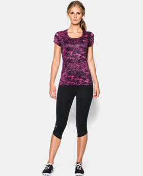 Women's UA HeatGear® Flyweight Printed T-Shirt