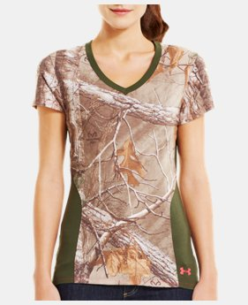 Women's Charged Cotton® Camo V-Neck