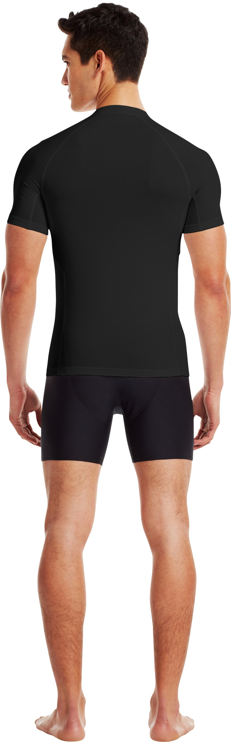 Men's Charged Cotton® Compression Crew, Black , Back