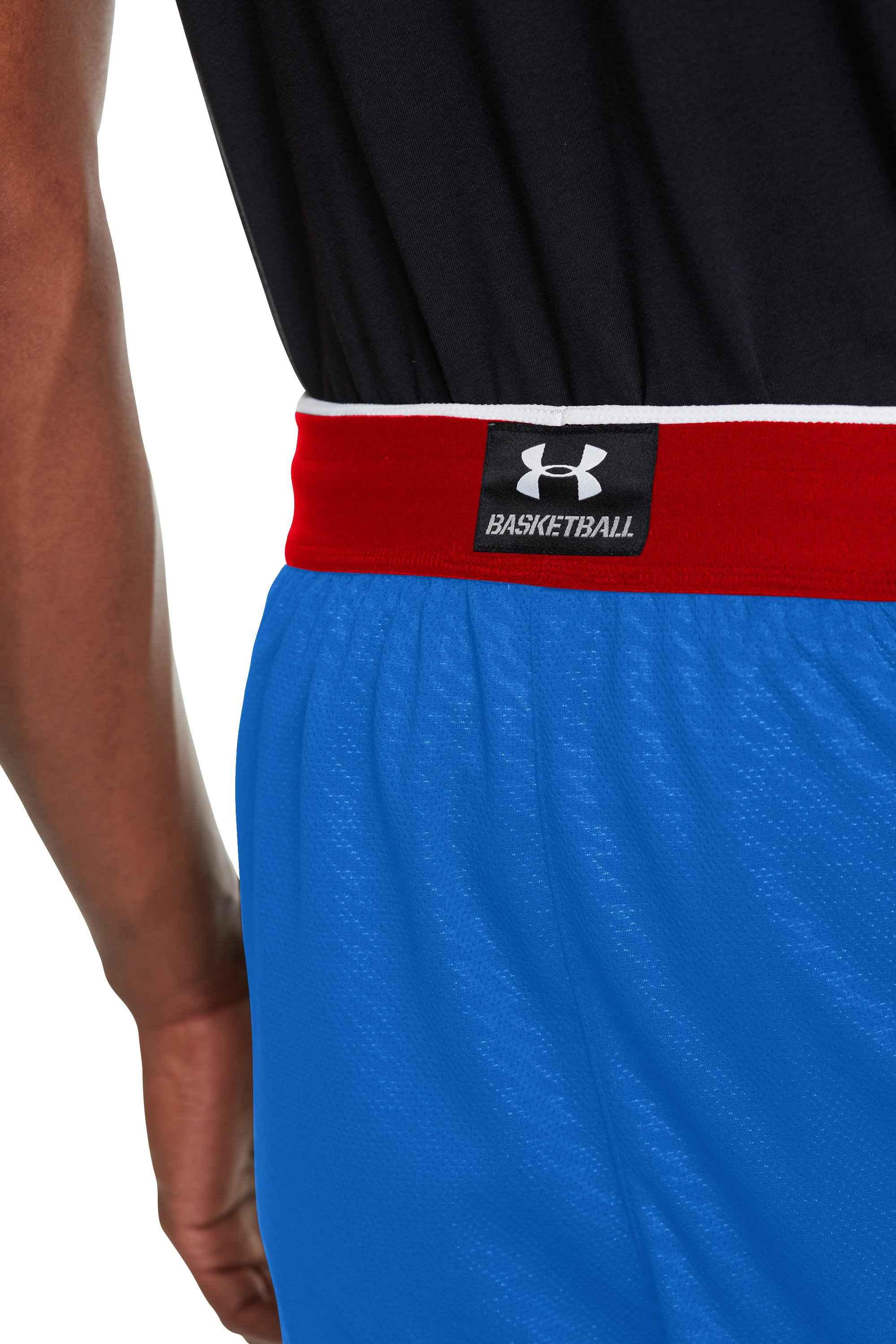 Men's UA EZ Mon-Knee Printed Basketball Shorts, Royal