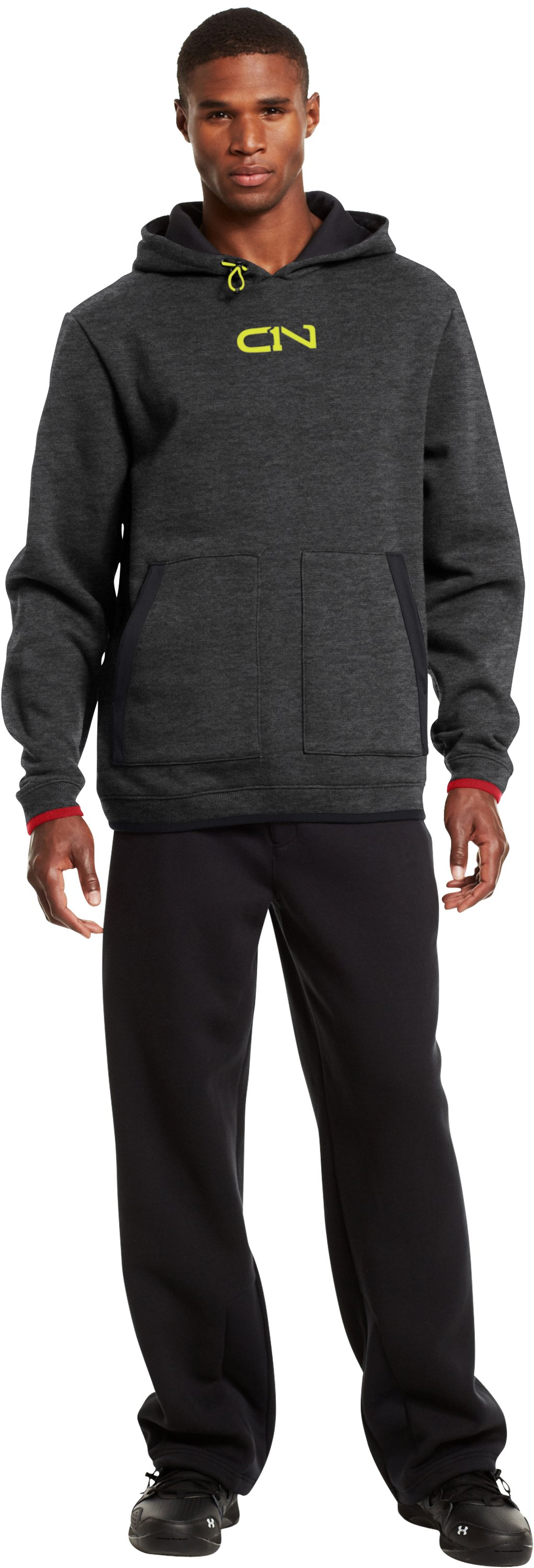 Men's C1N Charged Cotton® Storm Hoodie, Carbon Heather, zoomed image