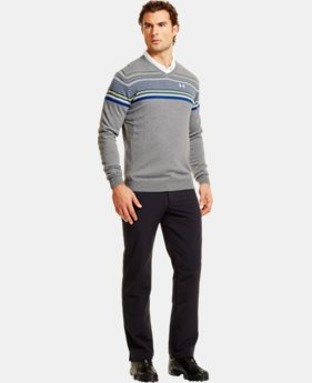 Men's UA V-Neck Stripe Sweater