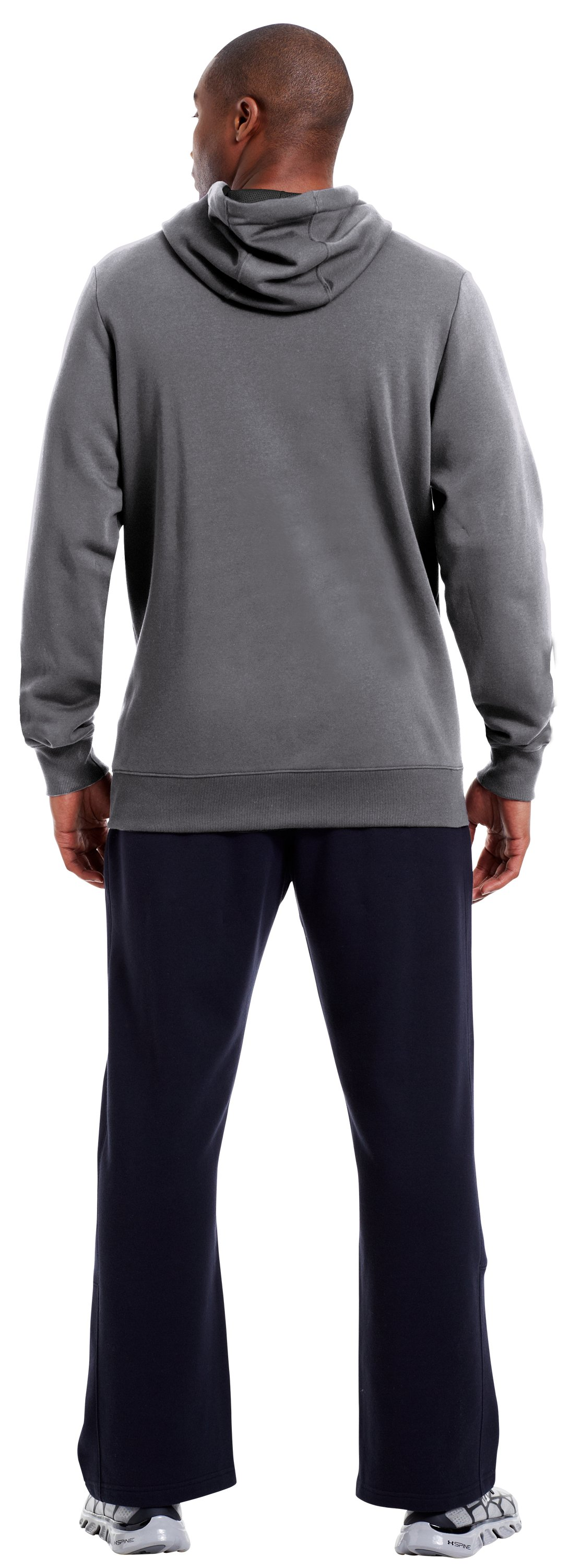 Men's Charged Cotton® Storm Battle Hoodie, Graphite, Back