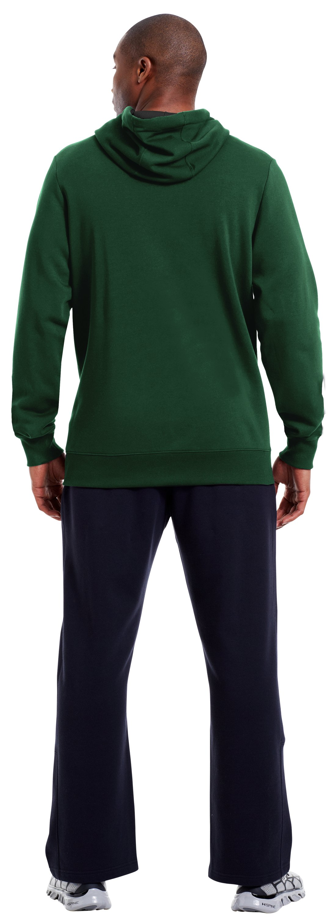 Men's Charged Cotton® Storm Battle Hoodie, Forest Green, Back
