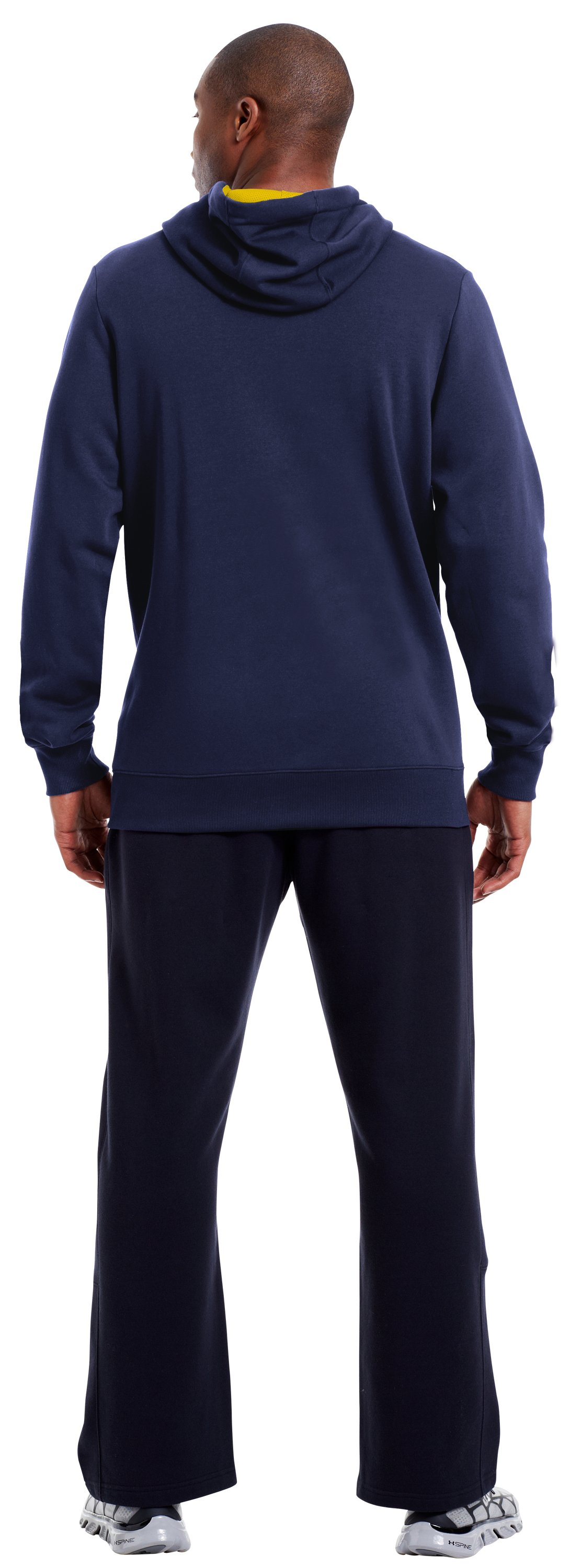 Men's Charged Cotton® Storm Battle Hoodie, Midnight Navy, Back