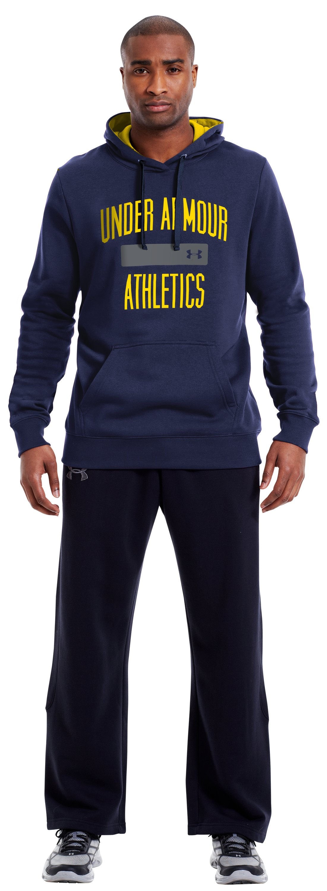 Men's Charged Cotton® Storm Battle Hoodie, Midnight Navy, zoomed image