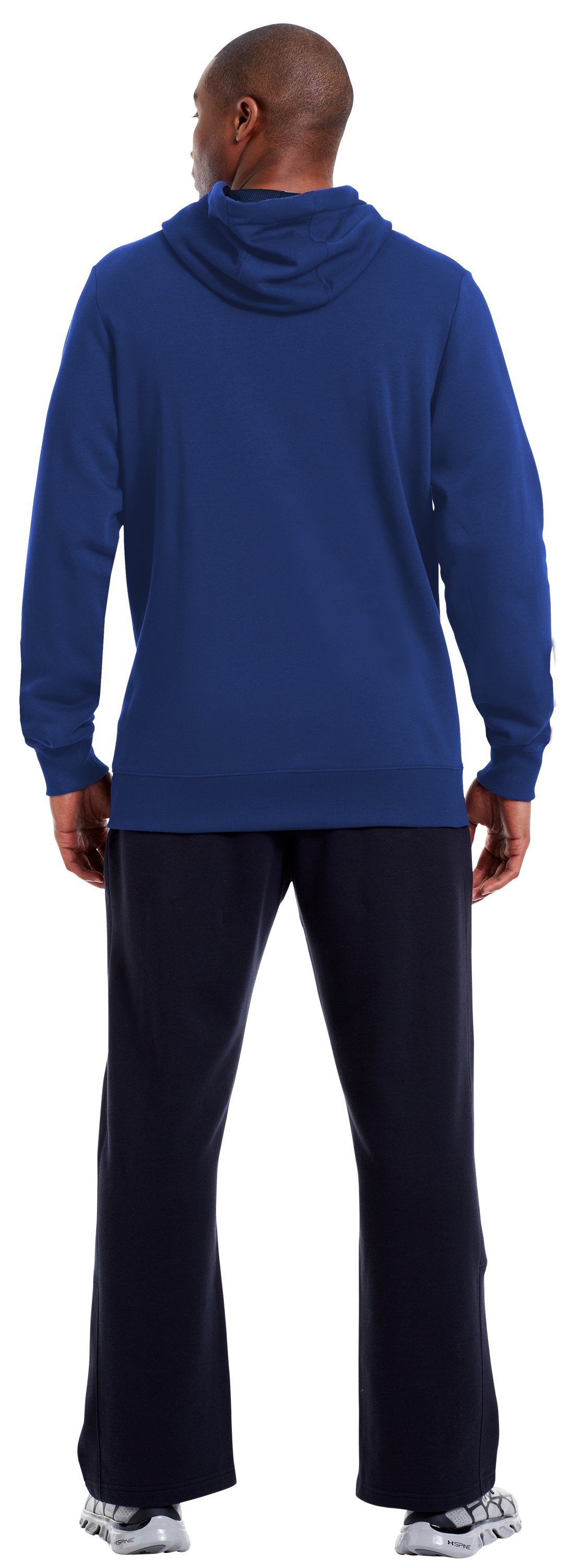 Men's Charged Cotton® Storm Battle Hoodie, Bauhaus Blue, Back