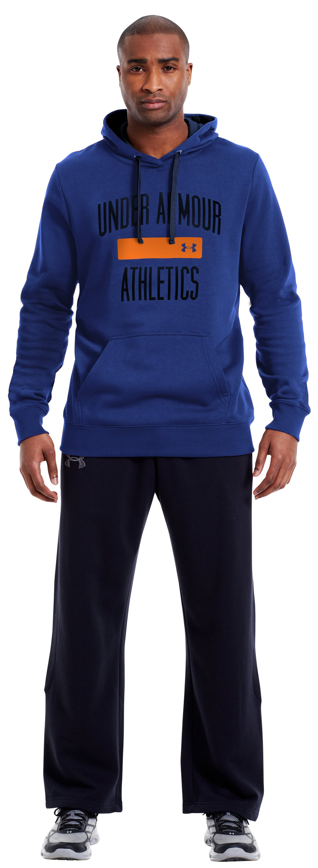 Men's Charged Cotton® Storm Battle Hoodie, Bauhaus Blue, Front