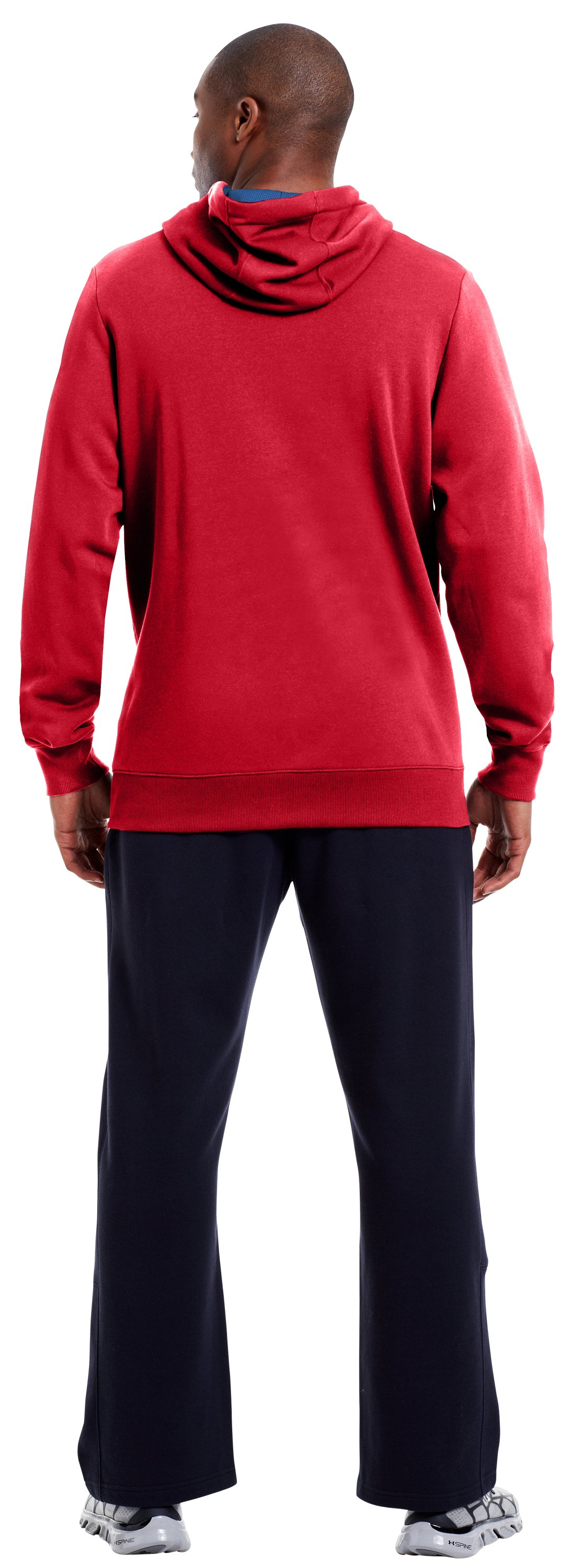 Men's Charged Cotton® Storm Battle Hoodie, Red, Back