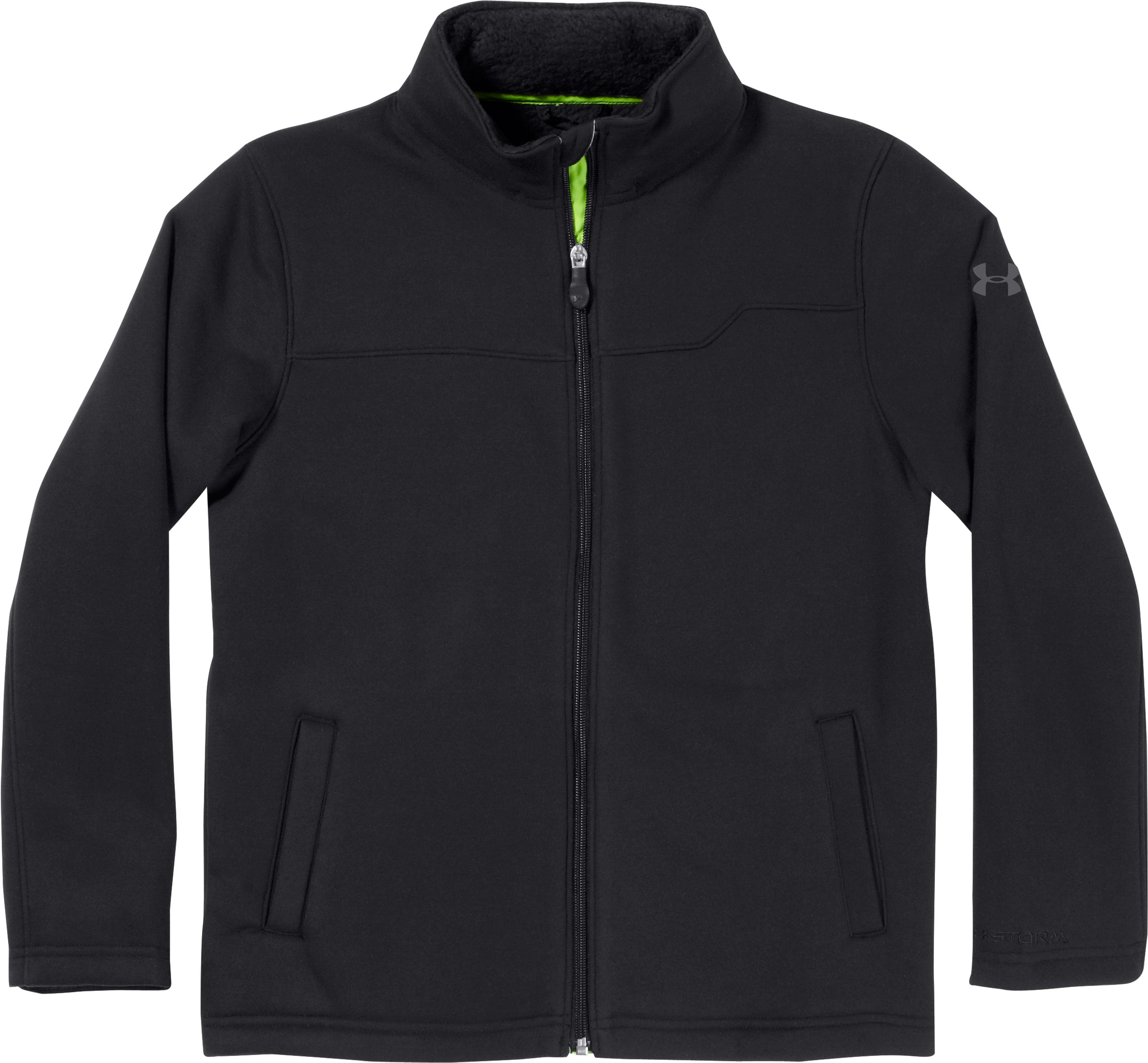 Boys' Extreme ColdGear® Jacket, Black , Laydown