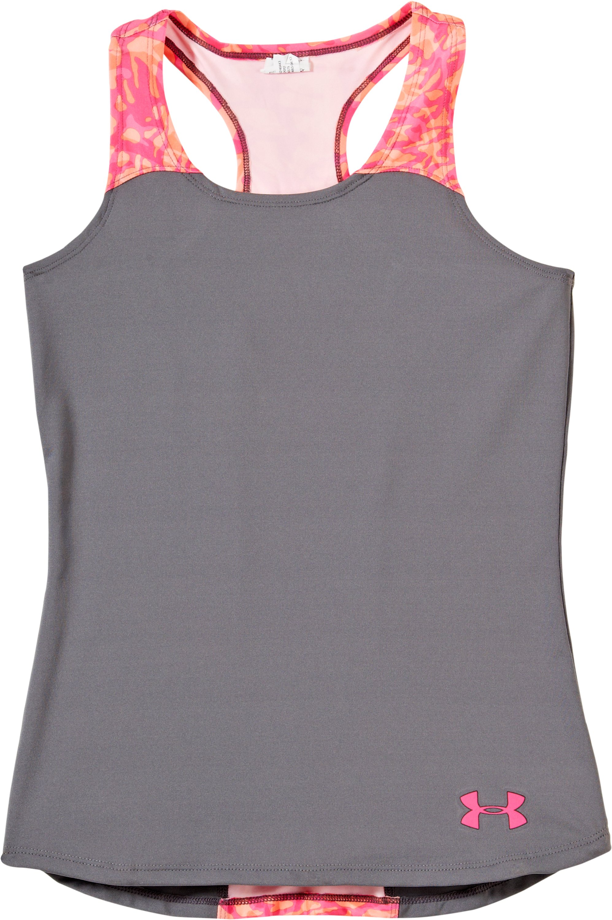 Girls' UA Inner Intensity Tank, Graphite, Laydown