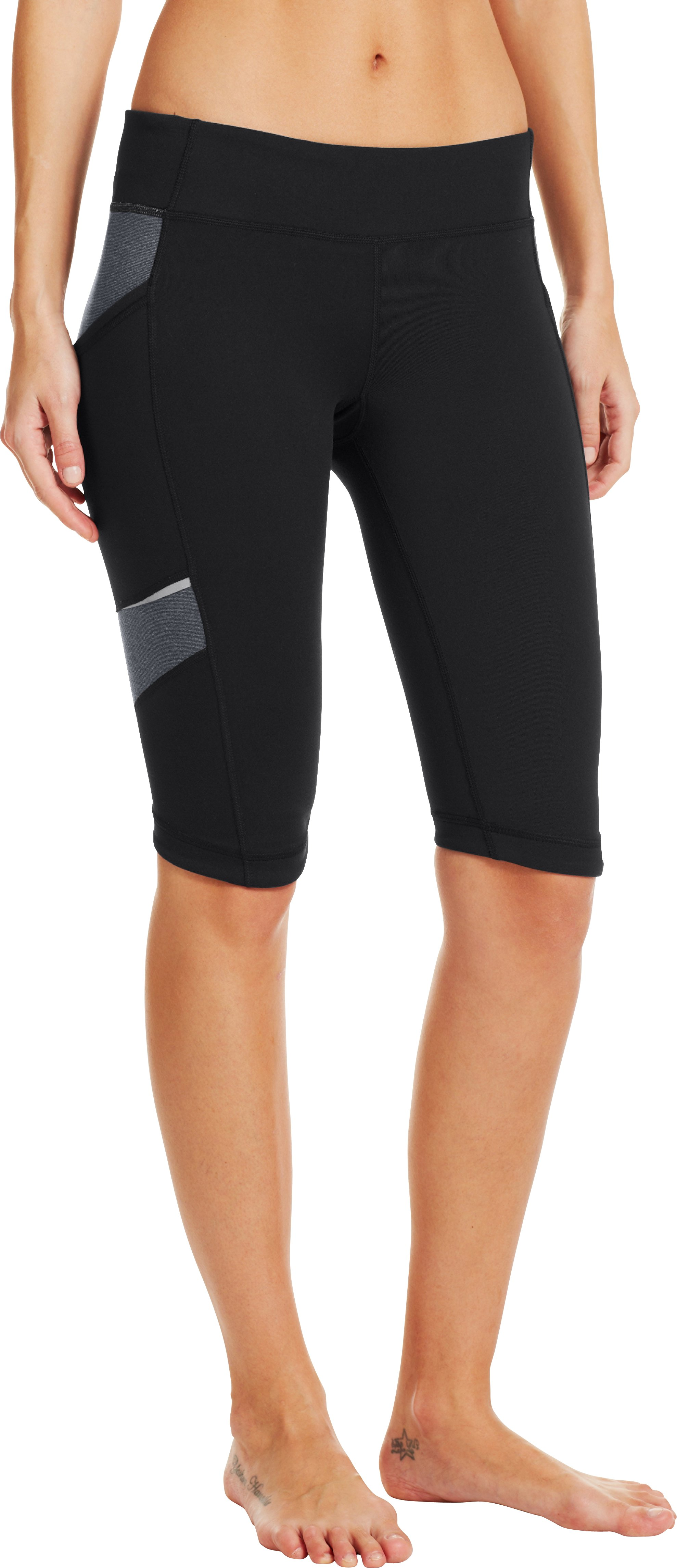 Women's UA StudioLux® Spin Shorts, Black , zoomed image
