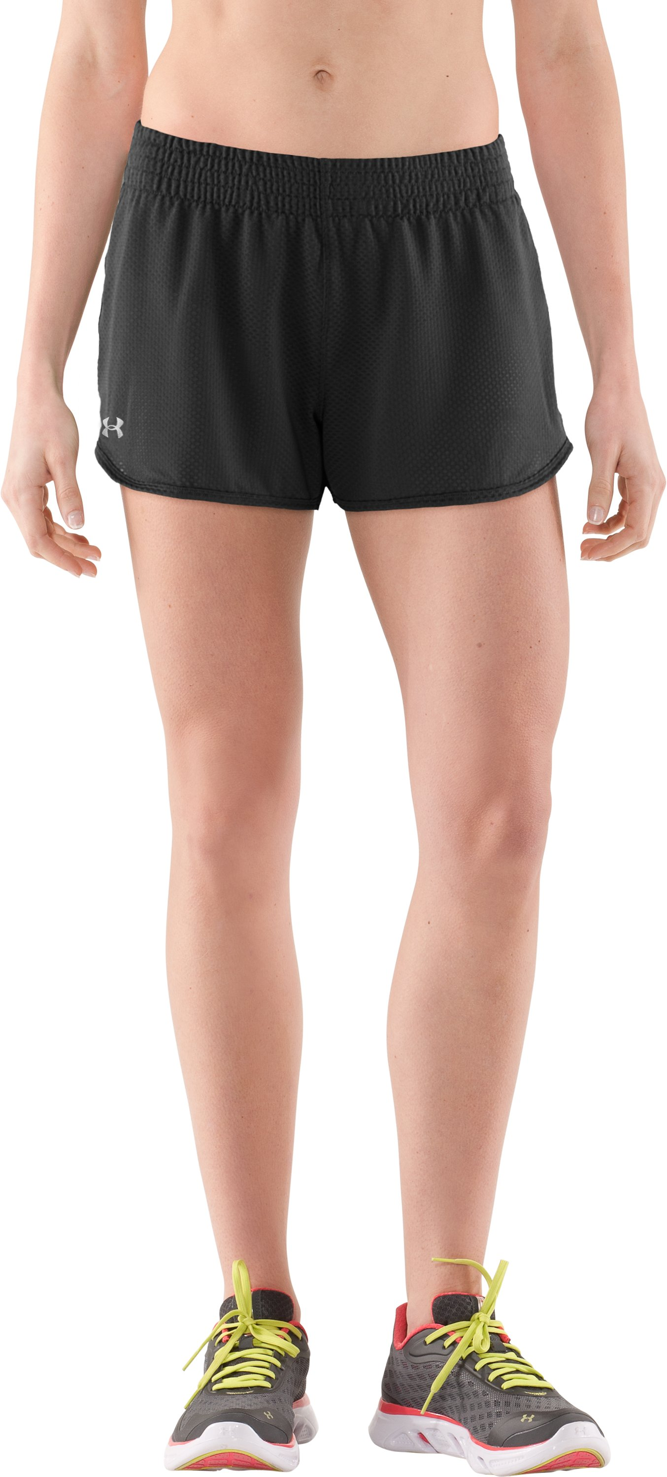 "Women's UA Fly-By Knit 3"" Short, Black"