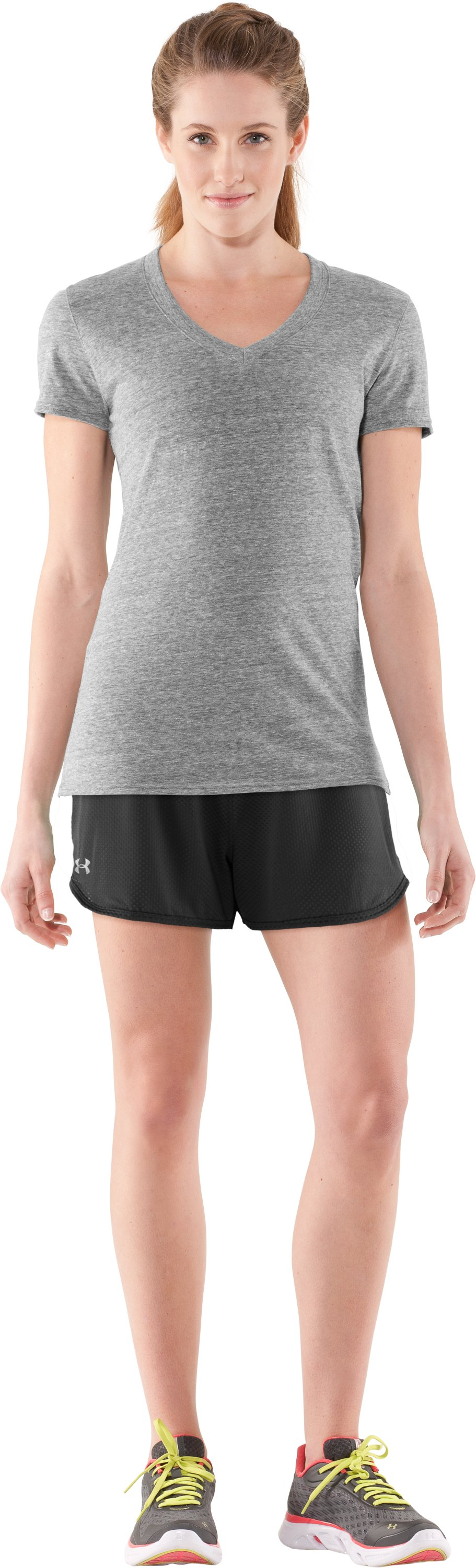 "Women's UA Fly-By Knit 3"" Short, Black , Front"