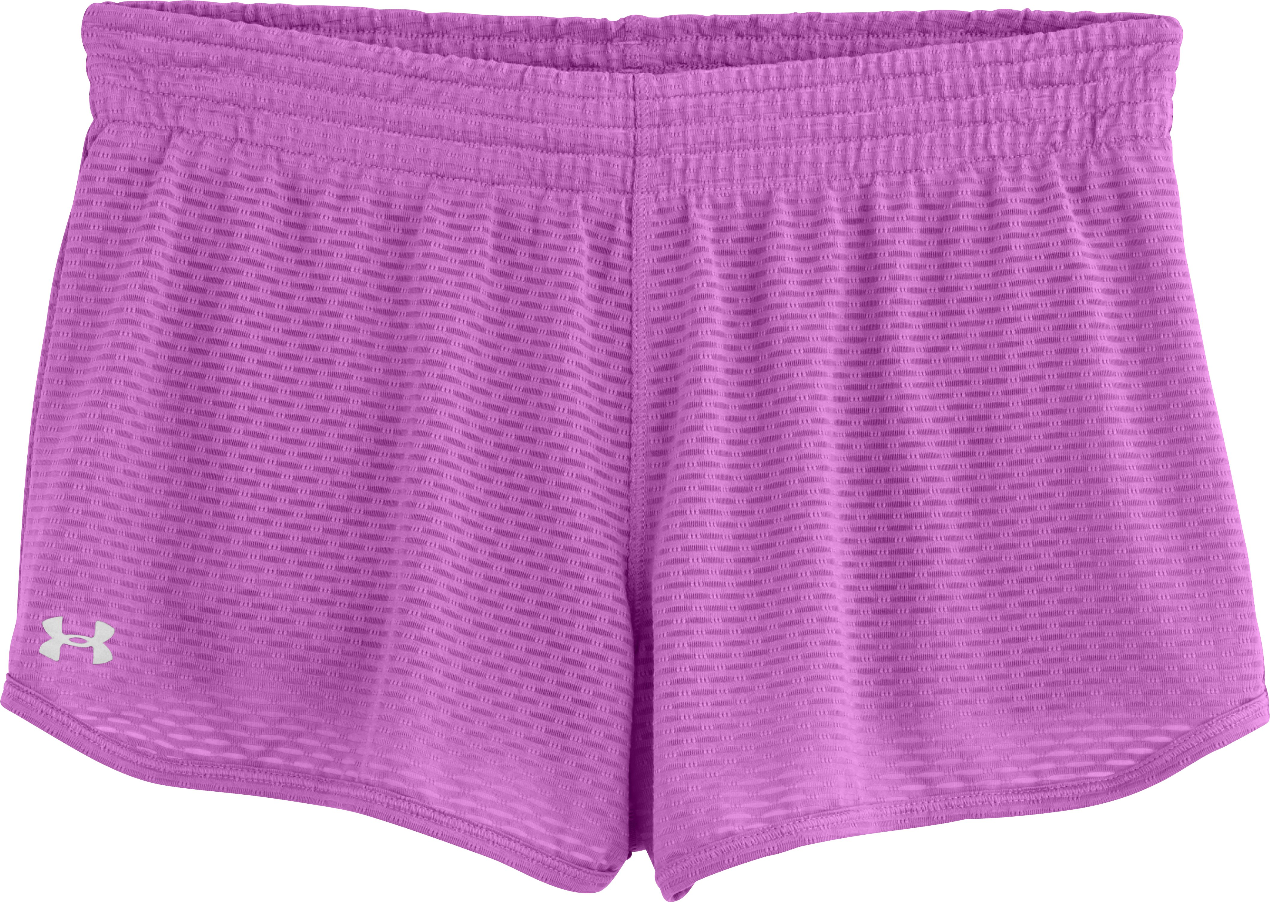 "Women's UA Fly-By Knit 3"" Short, EXOTIC BLOOM, Laydown"