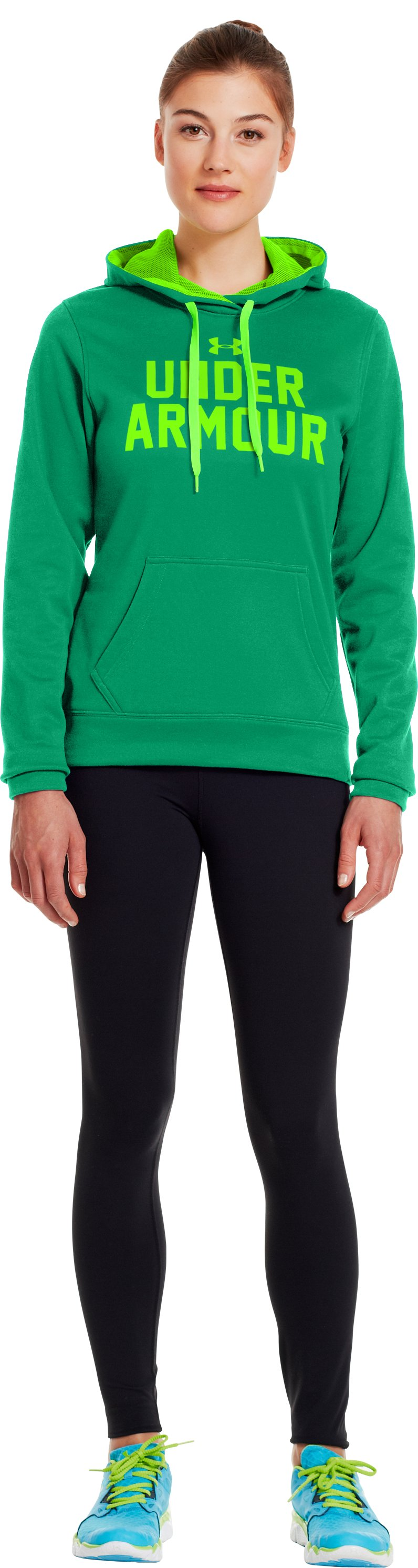 Women's UA Battle Hoodie, Jelly Bean, Front