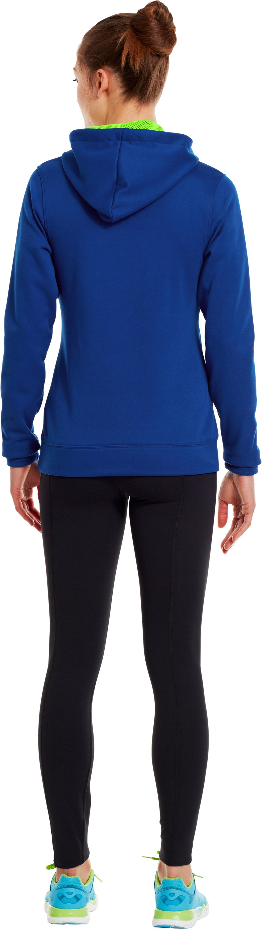 Women's UA Battle Hoodie, BLU-AWAY, Back
