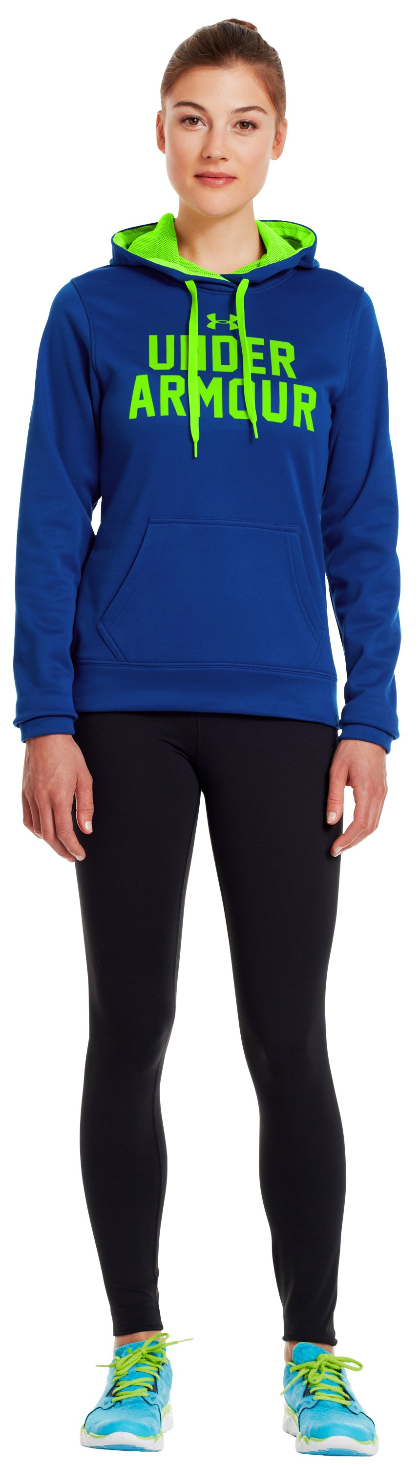 Women's UA Battle Hoodie, BLU-AWAY, Front