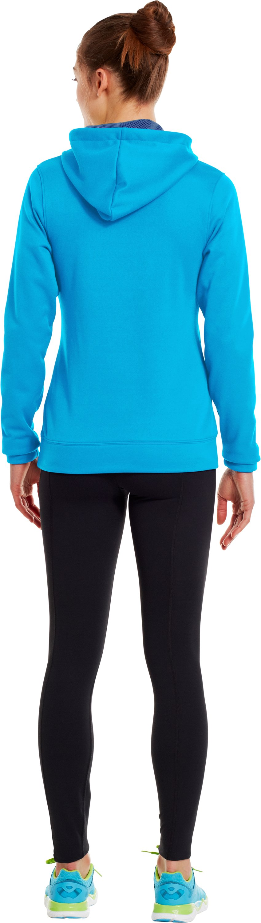 Women's UA Battle Hoodie, PIRATE BLUE, Back
