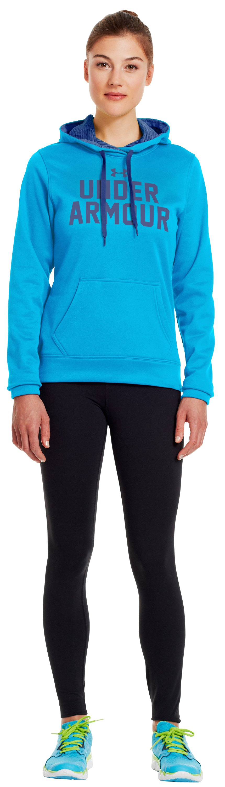 Women's UA Battle Hoodie, PIRATE BLUE, zoomed image