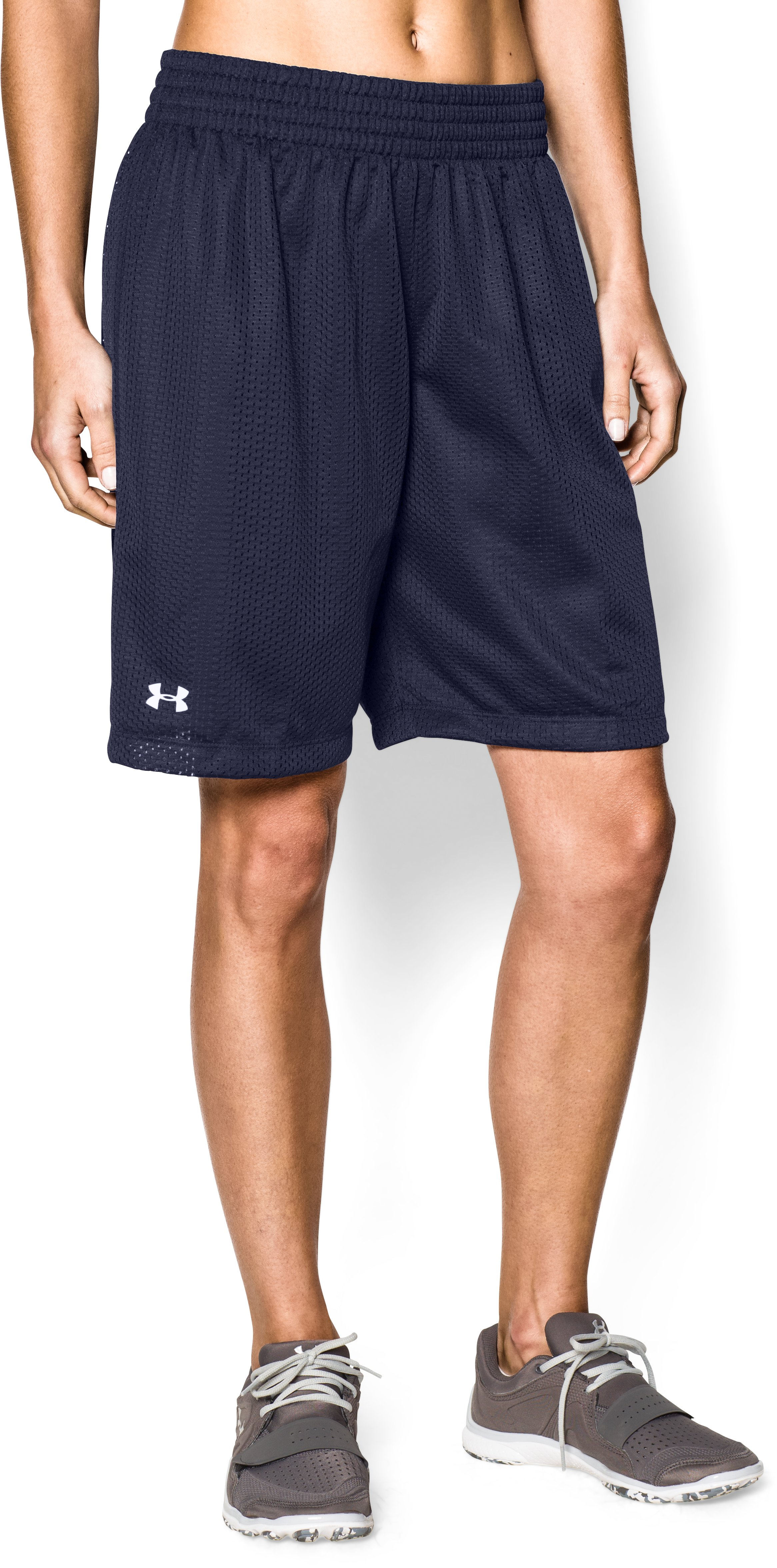 Women's UA Double Double Shorts, Midnight Navy