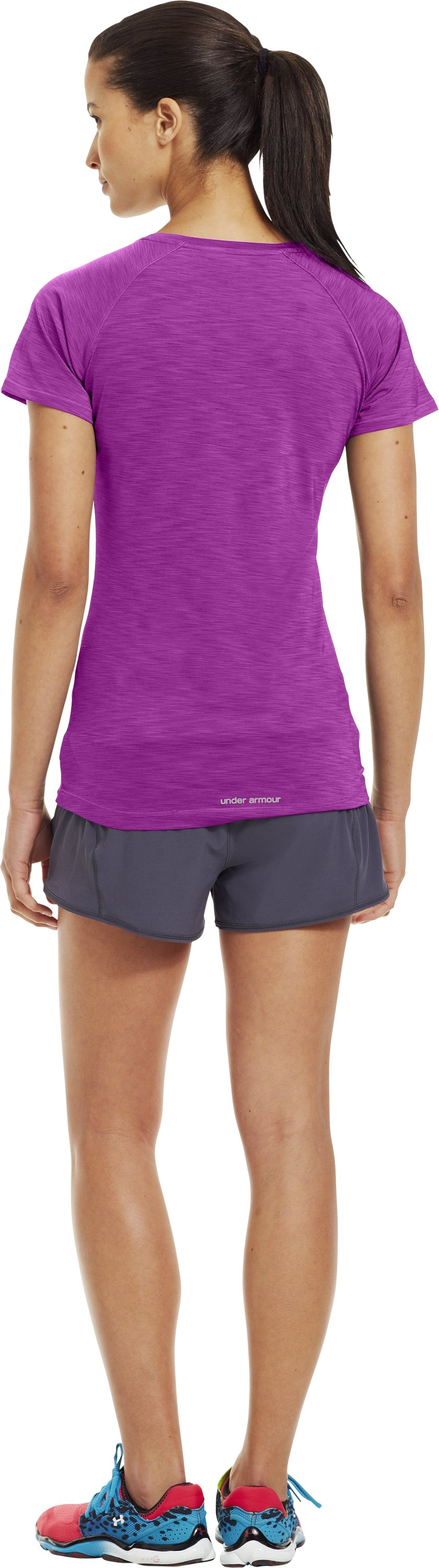 Women's UA Get Set Go T-Shirt, STROBE, Back