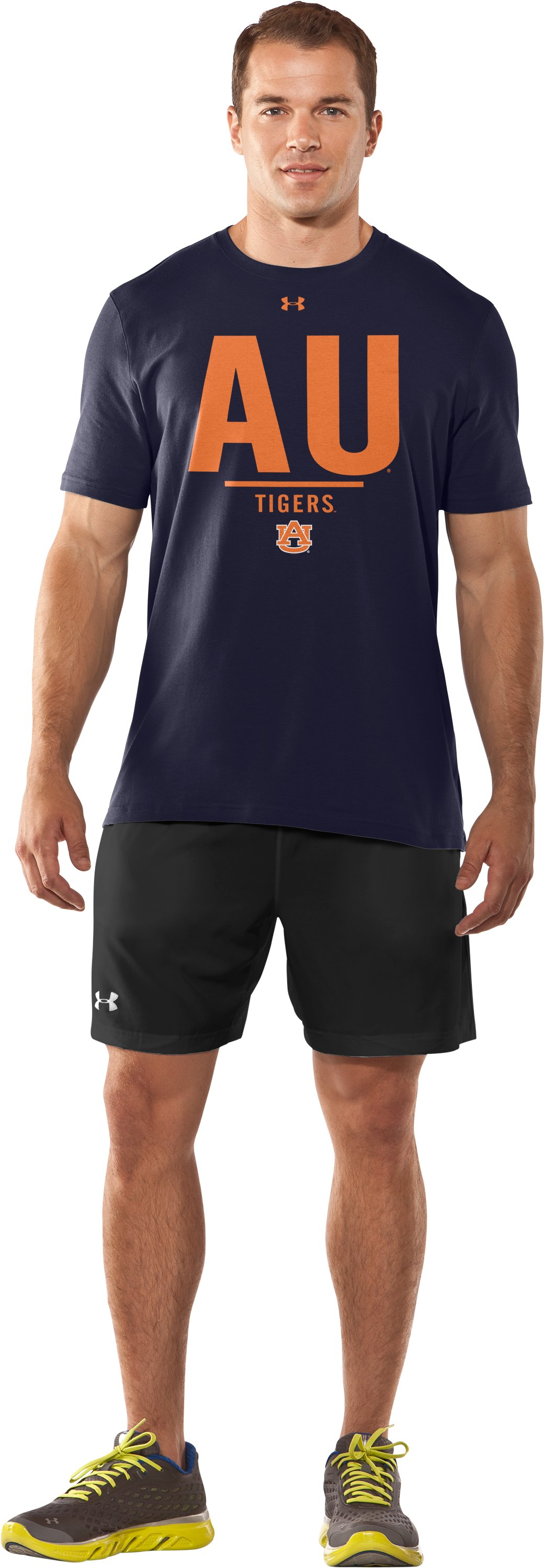 Men's Auburn Charged Cotton® T-Shirt, Midnight Navy, Front