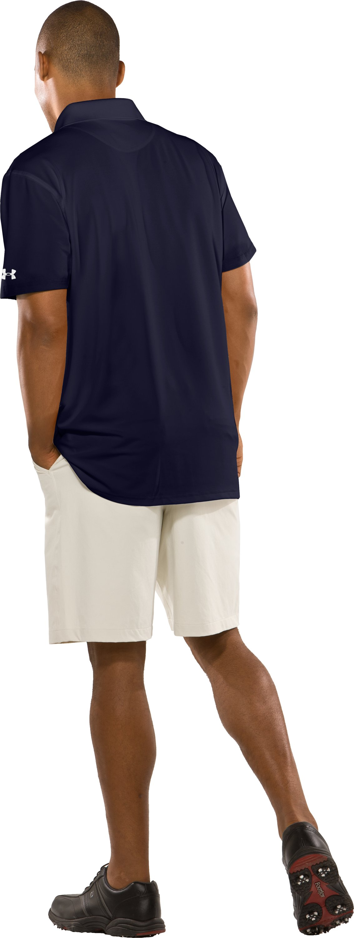 Men's Auburn UA Collegiate Polo, Midnight Navy, Back