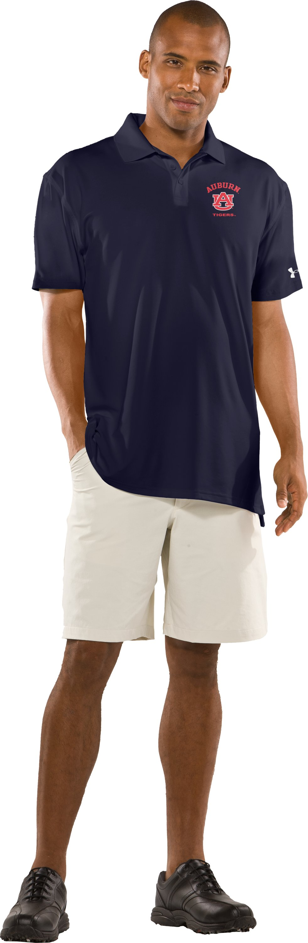 Men's Auburn UA Collegiate Polo, Midnight Navy, Front